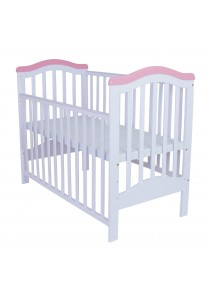 Royalcot R473 Baby Cot White Pink