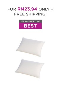 [Buy 1 Free 1] Masterfoam 100% Polyester Hollow Siliconised Conjugated Pillow - Washable