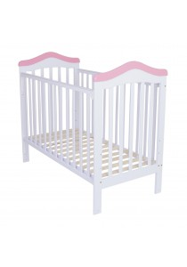 Royalcot R490 Baby Cot (White Pink)