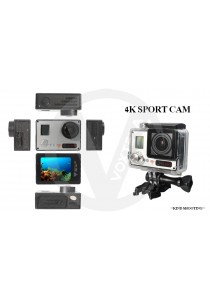 [Upgrade 60FPS] 4K Ultra HD WiFi Action Camera Waterproof 2.0 LCD Double Screens Sports Cam