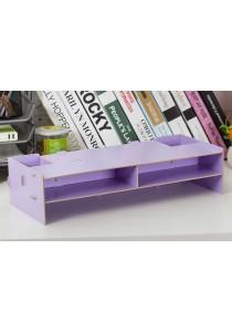 DIY Wooden PC Stand Organizer Box (Purple)