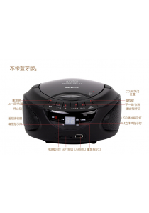 Portable Radio, CD Player with USB Player for Educational CD (Black)