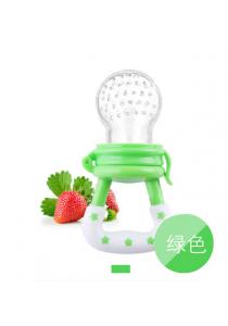 Star Design Baby Food Pacifier - Green (L)