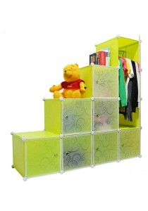 Tupper Cabinet 10 Cubes 1-Hanger Fruit Green L-Shape DIY Wardrobe