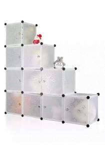 Tupper Cabinet 10 Cubes Stripes L DIY Decorative Shelf - White