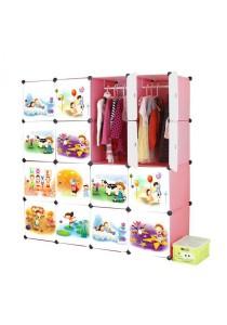 Tupper Cabinet 16 Cube Pink Cartoon DIY Wardrobe