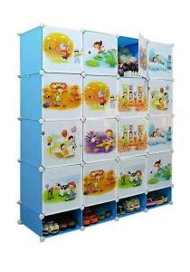 Tupper Cabinet 20 Cubes DIY Sky Blue Cartoon Storage With Mini Bottom