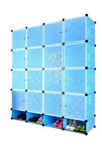 Tupper Cabinet 20 Cubes DIY Storage Cubes with Mini Bottom (Blue Flower)