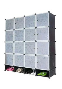 Tupper Cabinet 20 Cubes Black Stripes DIY Storage Cubes with Mini Bottom