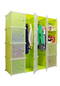 Tupper Cabinet DIY Wardrobe 16 Cubes (Fruit Green)