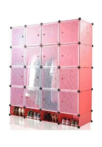 Tupper Cabinet 20 Cubes Red Stripes DIY Wardrobe With Shoe Rack