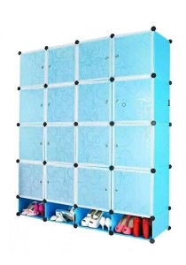 Tupper Cabinet 20 Cubes DIY Storage Cubes with Mini Bottom (Sky Blue)