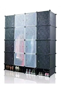 Tupper Cabinet 20 Cubes Black Stripes DIY Wardrobe With Shoe Rack