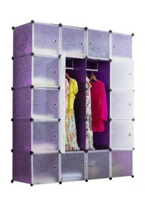 Tupper Cabinet DIY Wardrobe 20 Cubes (Purple)