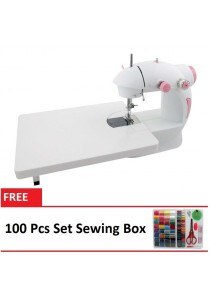 4-in-1 Mini Sewing Machine With Expansion Board + 100 Pcs Set Sewing Box