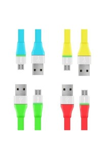 PROLiNK PUC100 Micro USB Charging Data Cable With LED For Android Phone 1M (4 Pieces)