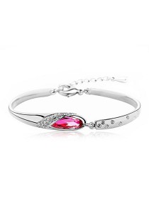 OUXI Glass Shoe Bangle (Rose)