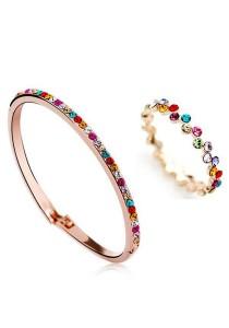 OUXI Diamond Sugar Bangle Ring Set (Size 11)