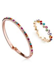OUXI Diamond Sugar Bangle Ring Set (Size 13)