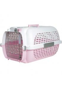 Catit Profile Voyageur Cat Carrier - Pink White - Small 48.3 cm L x 32.6 cm W x 28 cm H