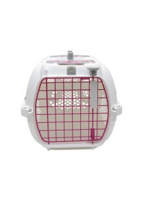 Catit Style Profile Voyageur Cat Carrier - Pink Ribbon - Small 48.3 cm L x 32.6 cm W x 28 cm H
