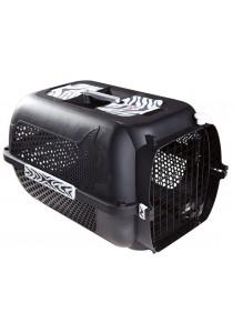 Catit Voyageur Cat Carrier - Black, White Tiger Print - Medium 56.5 cm L x 37.6 cm W x 30.8 cm H