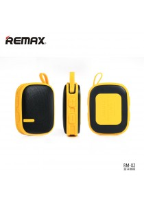 Original Remax RB-X2 Water Resistant Wireless Bluetooth Speaker With Mountaineering Buckle - Yellow
