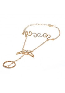 Fashion Gold Color Hollow Out Butterfly Shape Bracelet