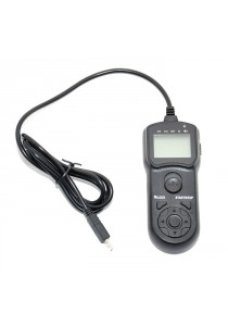 JJC TM-F2 Wire LCD Timer Remote Control For Sony A58 NEX-3NL A7 A7R A7S A3000 A5000 A6000 HX300 (TMF2)