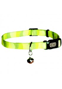 "Catit Style Adjustable Nylon Cat Collar - Jungle Stripes - 9.5 mm (3/8"") x 20 cm-33 cm (8-13"")"