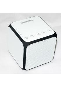 Moonstar Z11 Stylish Cube Speaker Bluetooth Stereo Sound Micro SD Card - White