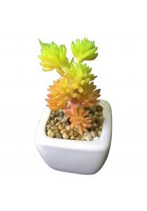 Artificial Succulent With White Porcelain Flower Pot - I
