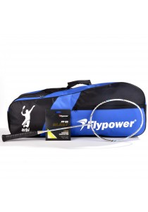 Flypower Badminton Racket - Ultra Light | Foc Double Zip Bag + String