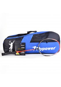 Flypower Badminton Racket Spectrum X7 FOC String FP66JS Blast & Double Zip Bag Bonus