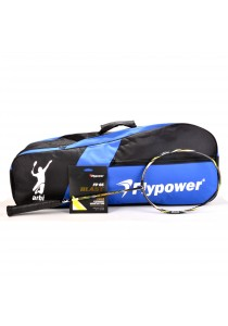 Flypower Badminton Racket Natuna 02  FOC String FP66JS Blast & Double Zip Bag Bonus