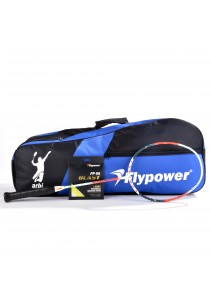 Flypower Badminton Racket Tornado 911x FOC String FP66JS Blast & Double Zip Bag Bonus
