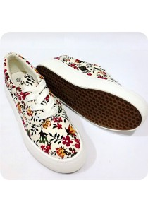 Red Floral Canvas Shoes