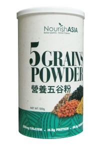 Pack of 3 Nourish Asia I-Organic Five Grains Powder