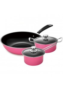 5pcs Nonstick Cookware Wok Frying Pan, Pot Induction Cookware Set
