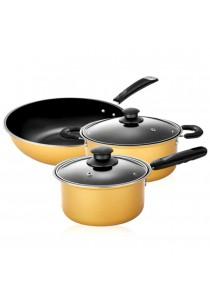 5pcs Nonstick Cookware Wok Frying Pan, Pot Induction Cookware Set