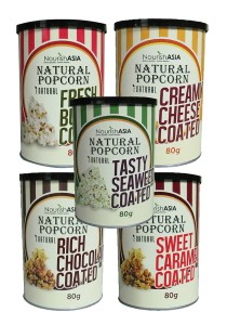 Pack of 6 Nourish Asia I-Natural Popcorn (Assorted Flavours)