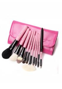 Cerro Qreen Make-Up Brush Set - Fuchsia Pink (10 Pcs)