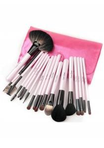 Cerro Qreen Professional Make-Up Brush Set - Pink (18 Pcs)