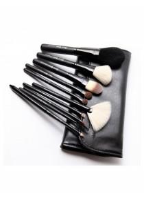 Cerro Qreen Make-Up Brush Set - Black (10 Pcs)