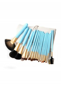 Cerro Qreen Professional Make-Up Brush Set - Sky Blue (18 Pcs)