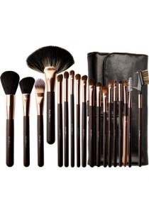 CERRO QREEN Professional Make-up Brush Set - Rosey Gold/Black (18 Pcs)