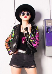 Limkokwing Fashion Club Painted Sleeves Biker Jacket (Limited Edition)
