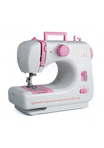 Sewing Machine JYSM-605 with 12 Sewing Options (Pink)