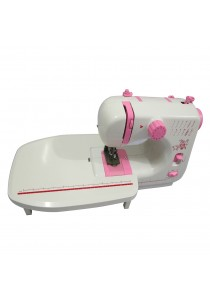 Sewing Machine JYSM-605 with 12 Sewing Options (Pink) + Expansion Board