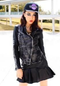 Limkokwing Fashion Club Denim Biker Panel Jacket